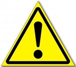 Табличка «Внимание опасность»