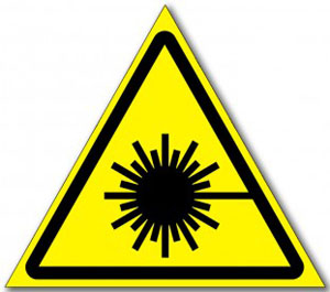 Табличка «Опасность лазерное излучение»