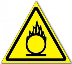 Табличка «Пожароопасно окислитель»