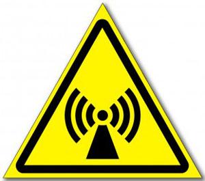 Наклейка «Внимание электромагнитное поле»