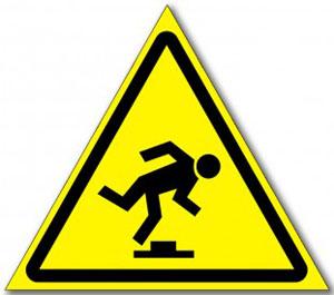 Наклейка «Осторожно малозаметное препятствие»