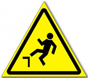 Табличка «Осторожно возможность падения с высоты»