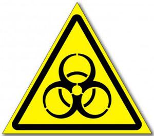 Наклейка «Осторожно биологическая опасность»