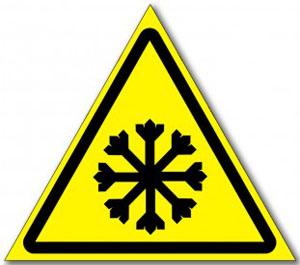 Табличка «Осторожно холод»