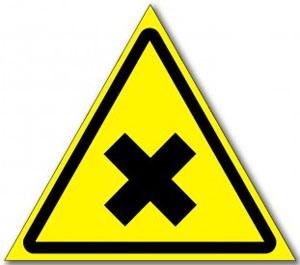 Табличка «Осторожно вредные для здоровья..»