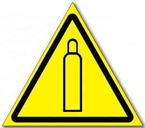 Табличка «Осторожно газовый баллон»