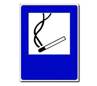 Наклейка «Курить здесь»
