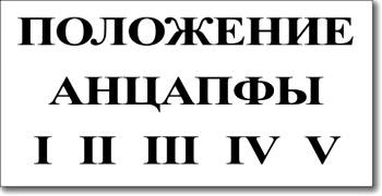 Табличка «Положение анцапфы»