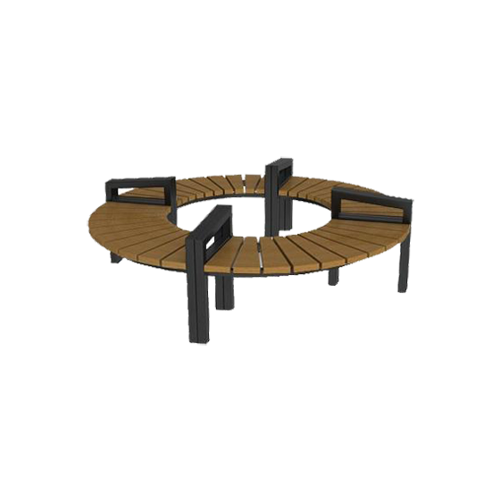 Большая круглая скамейка