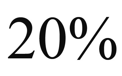 Стикер 20%