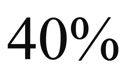 Наклейка 40%