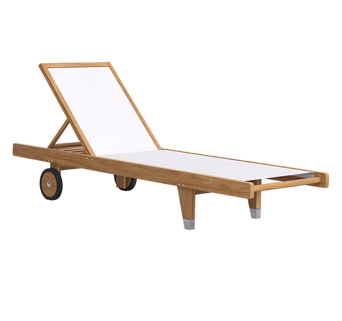 Шезлонг деревянный на колесах