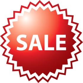 Наклейка «Sale» для магазина