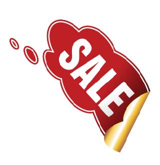 Наклейка в форме кляксы SALE