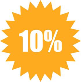 Наклейка 10%