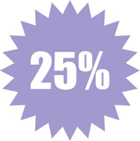 Наклейка 25%
