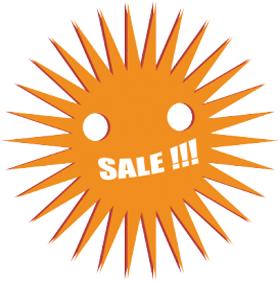 Наклейка Sale!!!