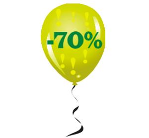 Наклейка шарик минус 70%
