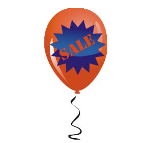 Наклейка шарик «sale»
