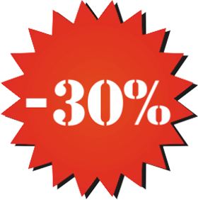 Наклейка минус 30%