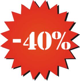 Наклейка минус 40%