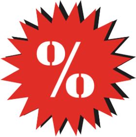Наклейка процент