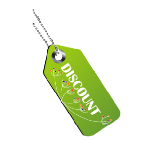 Наклейка Discount