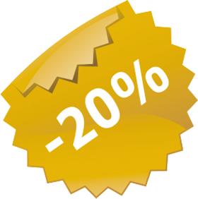 Наклейка скидки 20%