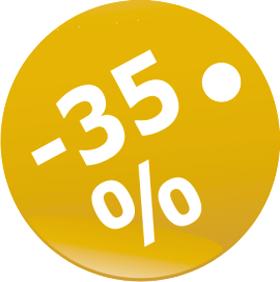 Наклейка скидки 35 %