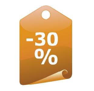 Наклейка ярлык минус 30%