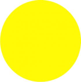 Наклейка желтый круг