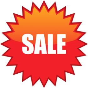 Наклейка «Sale» красная