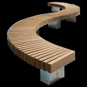 Скамейки и лавки с различными изгибами и закруглениями под заказ