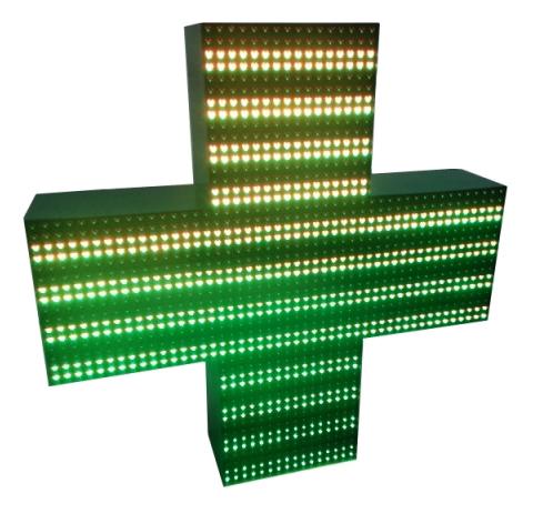 Светодиодный аптечный крест cv-12