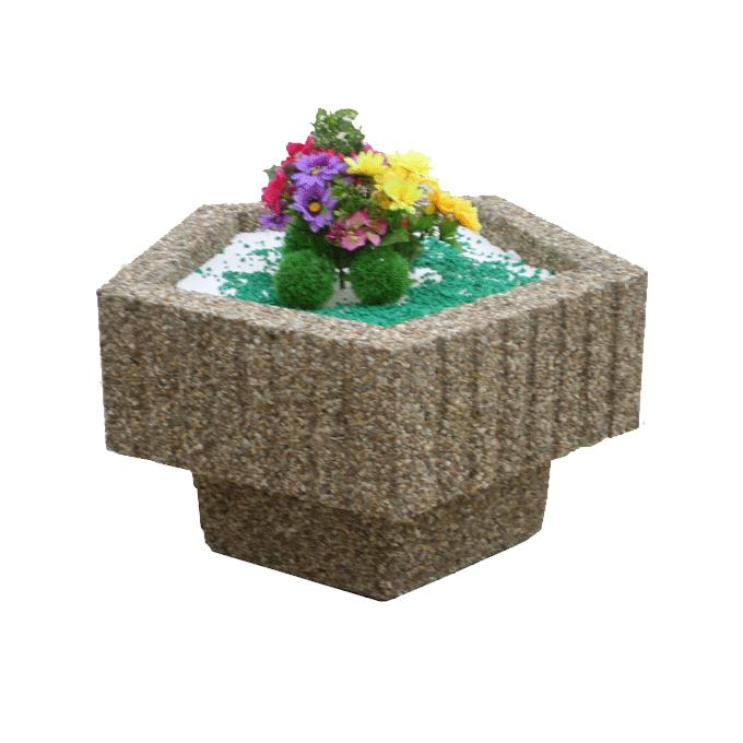 Цветочница из декоративного бетона