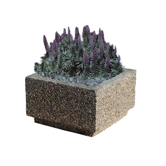 Вазон для цветов из бетона