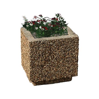 Вазон из бетона квадратный