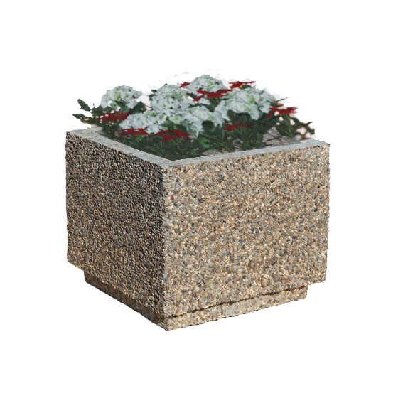 Вазон из бетона садовый