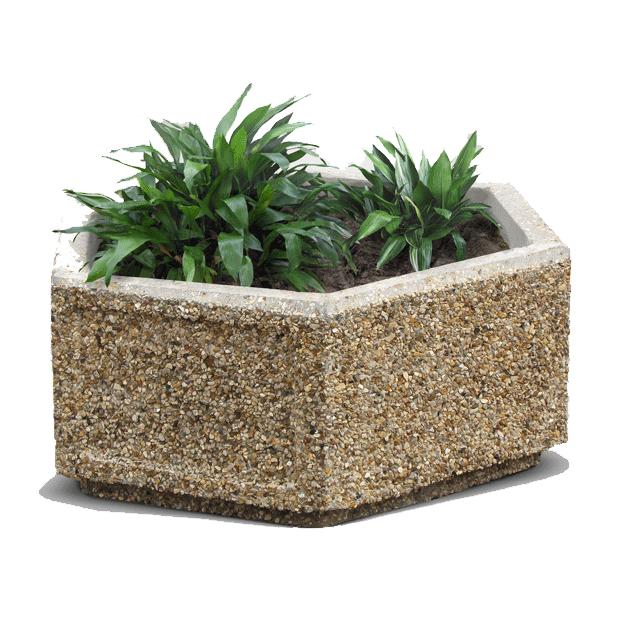 Вазон из бетона ромб