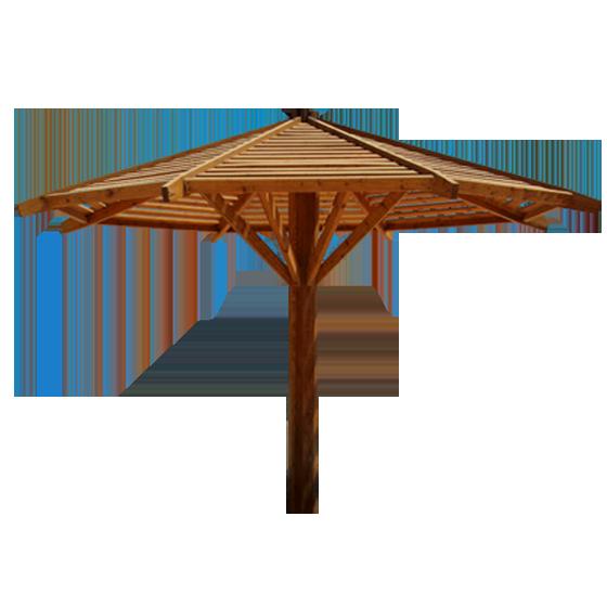 Деревянный зонт арт. тт02
